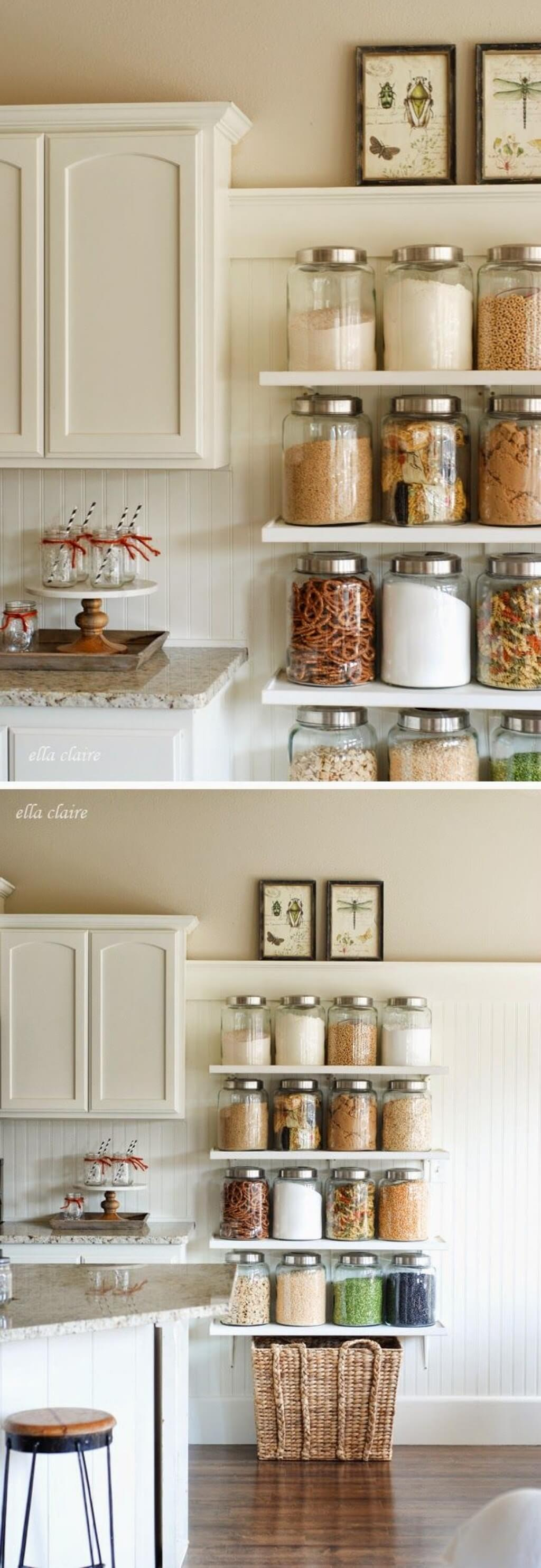 Shelves for Cooking Essentials and Snacks