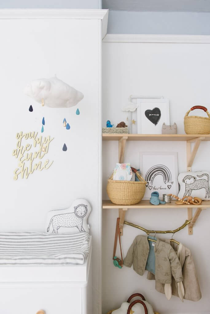 Handmade and Nature-Made Functional Nursery Arrangement