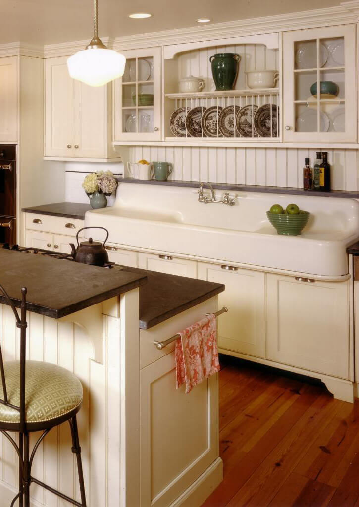 Schoolhouse Light Meets Farmhouse Sink