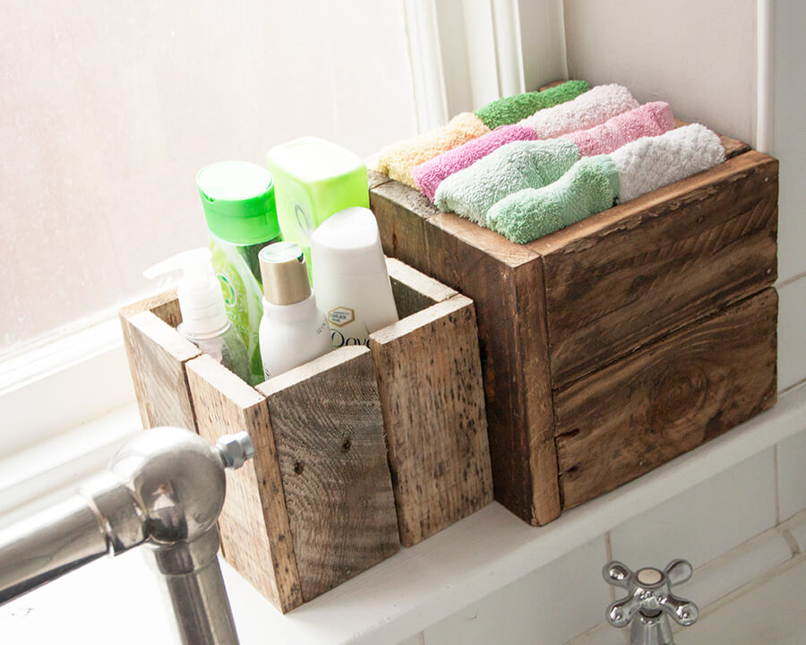Toiletry Holder Pallet Window Boxes
