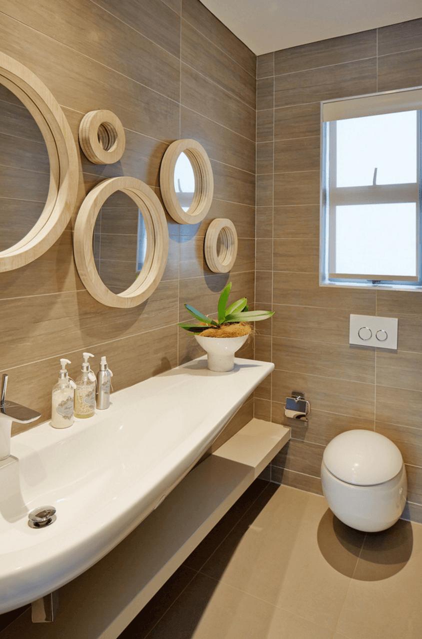 Statement Mirror with Elongated Sink