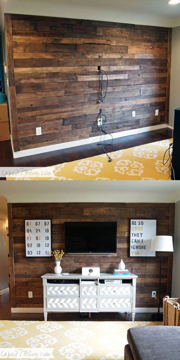 A Bare Wall Living Room Makeover