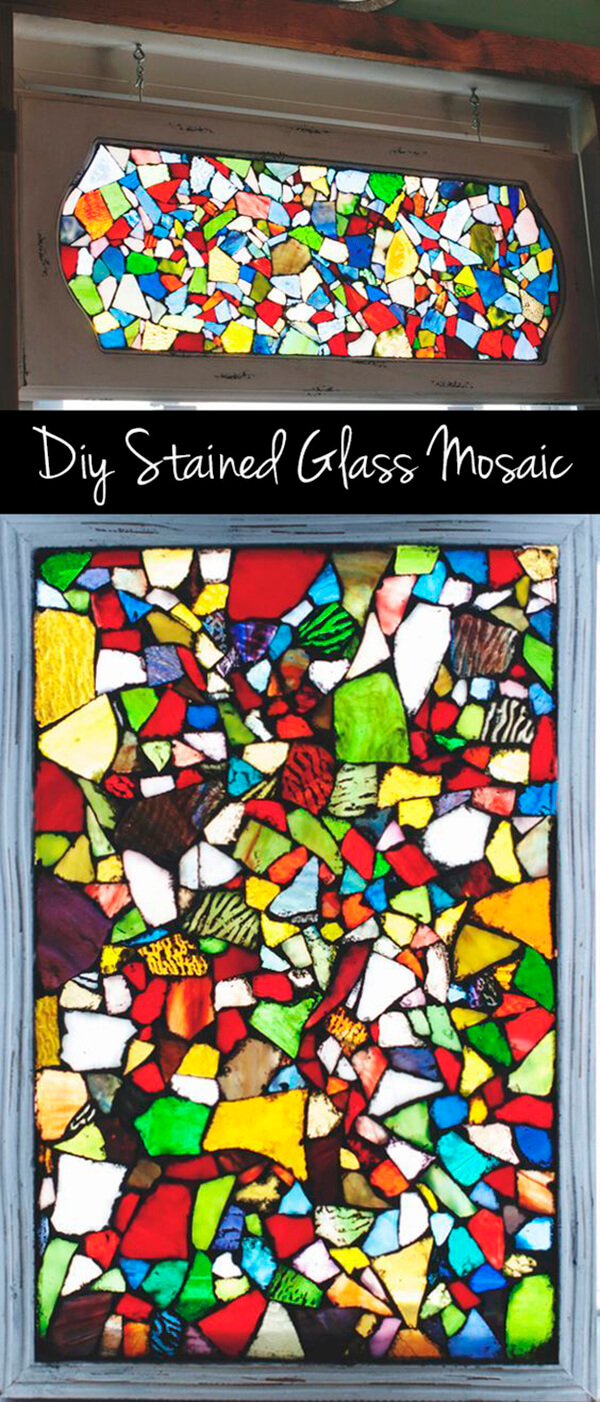 Make Your Own Glittering Stained Glass