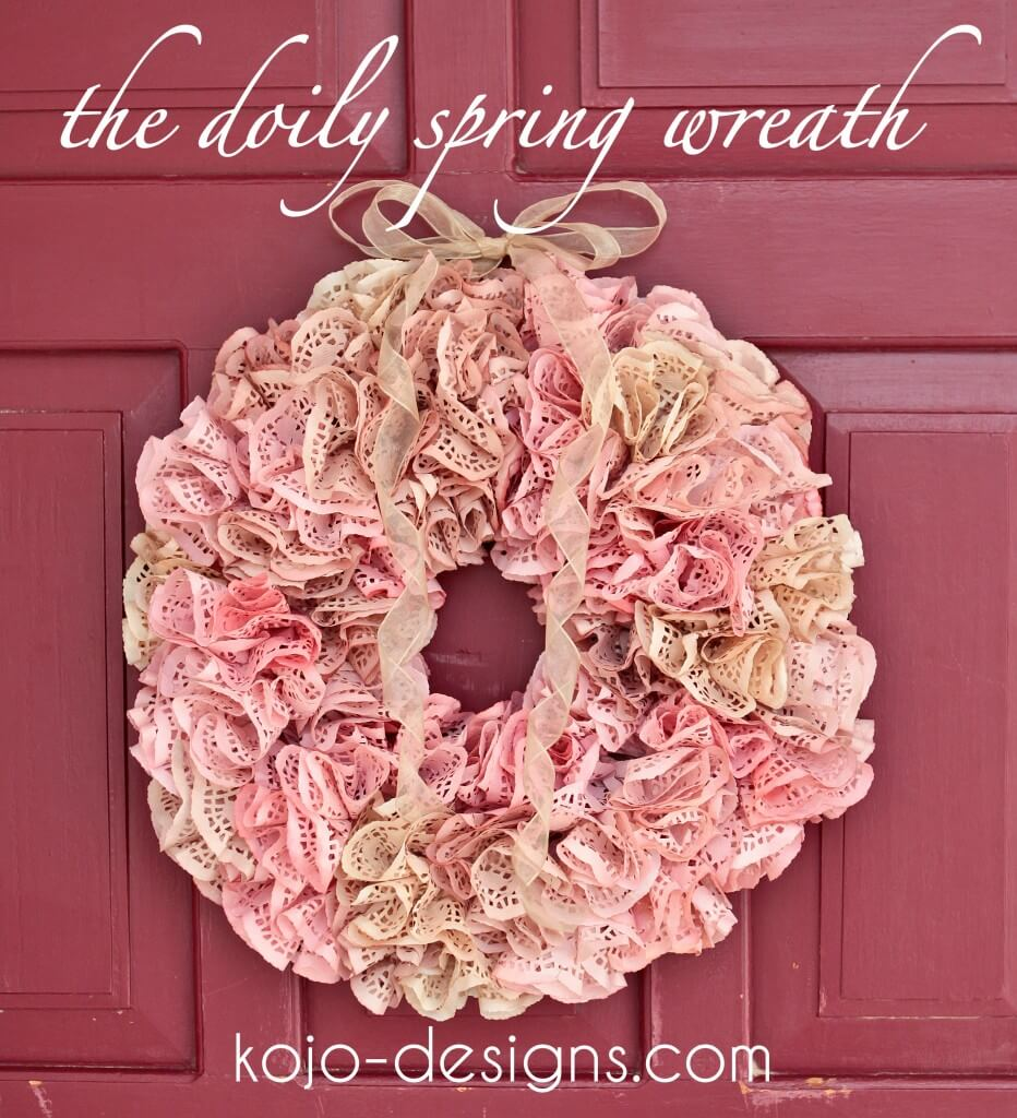 DIY Spring Wreaths with Blooming Doilies
