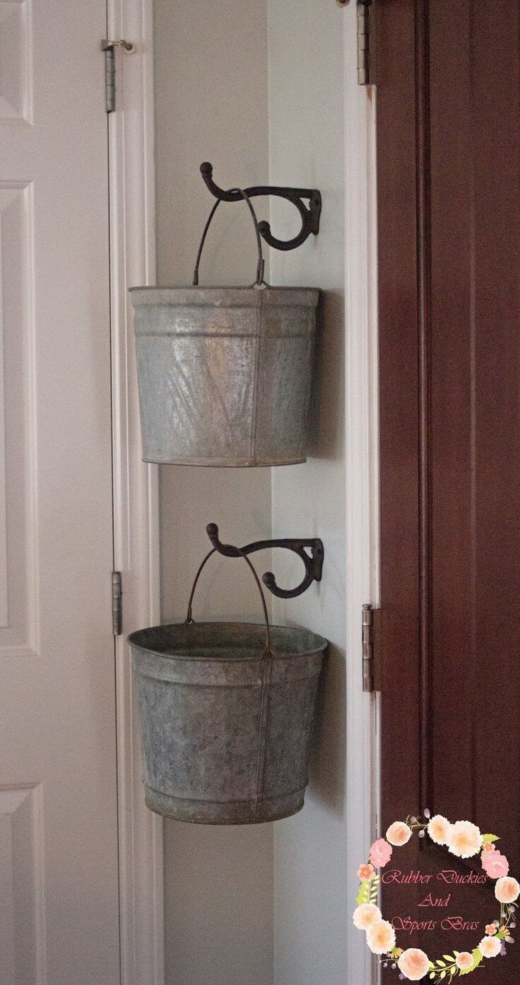 Organize Odds and Ends with Old Buckets