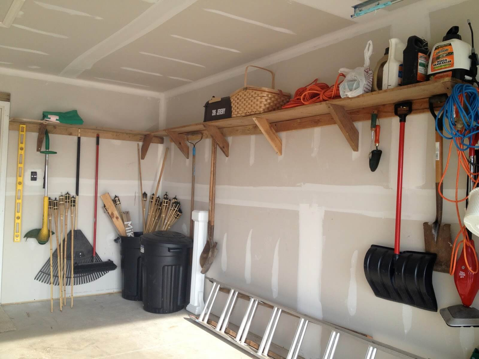 Dual Purpose Garage Wall Storage Solution