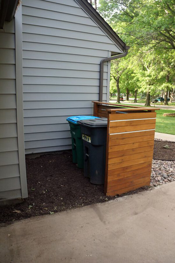 Basic Cedar Screen For Hiding Bins