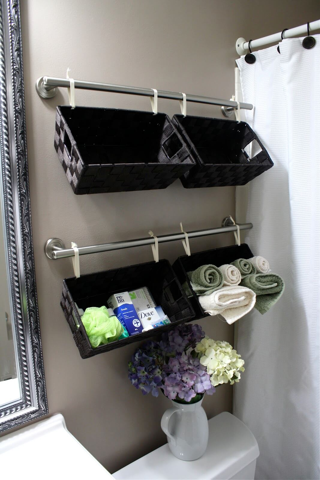 Above The Toilet Bathroom Storage Baskets
