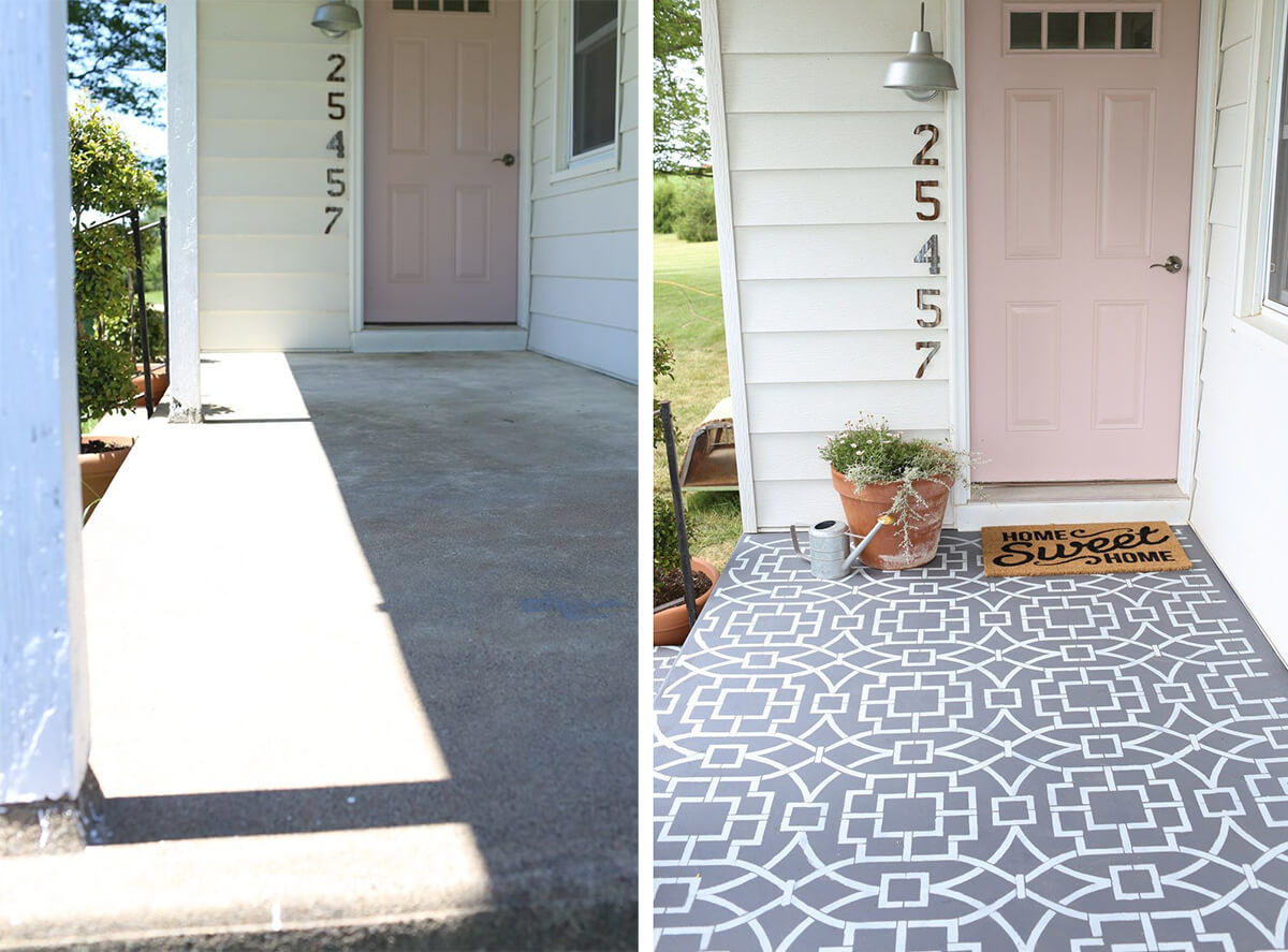 Wow Them with Custom Stenciled Floor Graphics