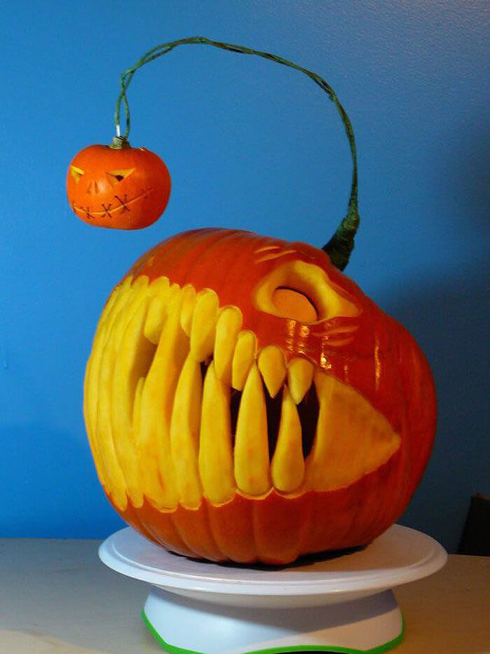 Angler Fish Pumpkin