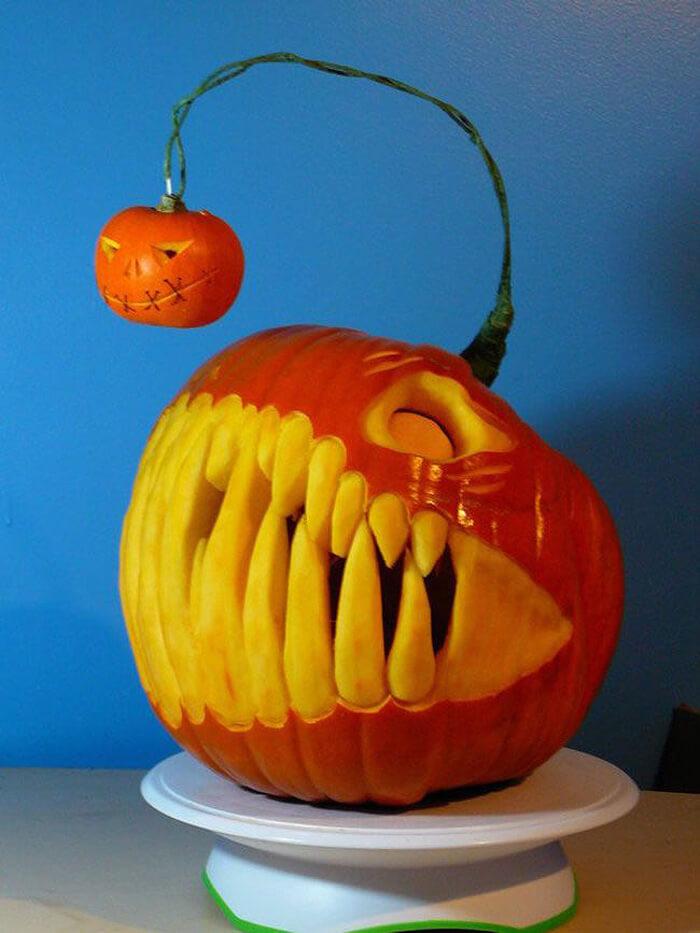 Angler Fish Pumpkin