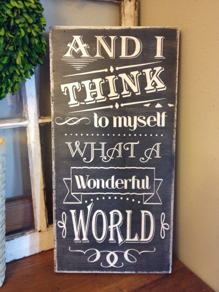 Beautiful World Chalkboard Corner Accent