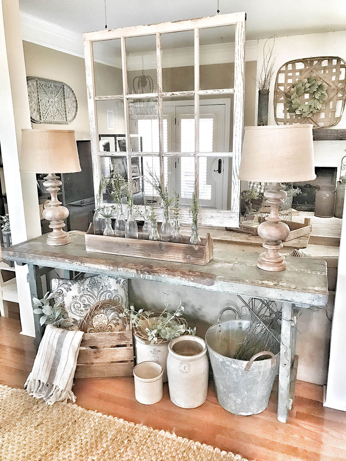 Country Florist Rustic Sofa Table