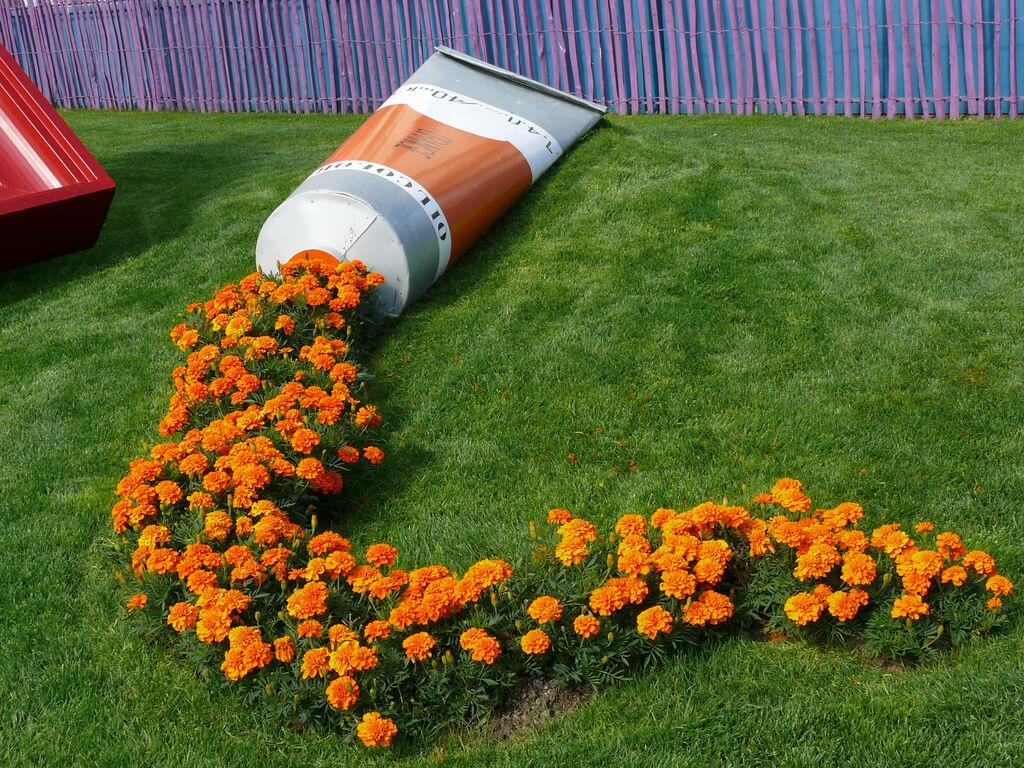 Whimsical Orange Oil Paint Tube
