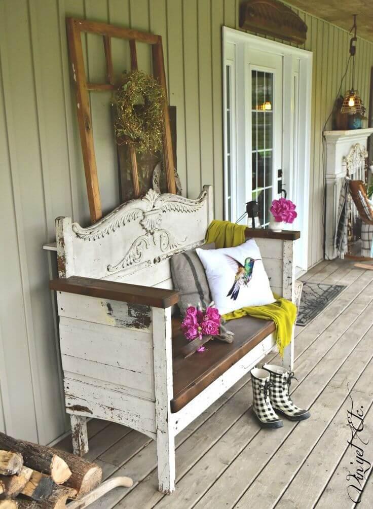 The Prettiest Shabby Chic Bench