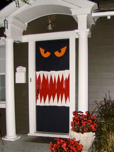 Hungry Monster Halloween Door Decor