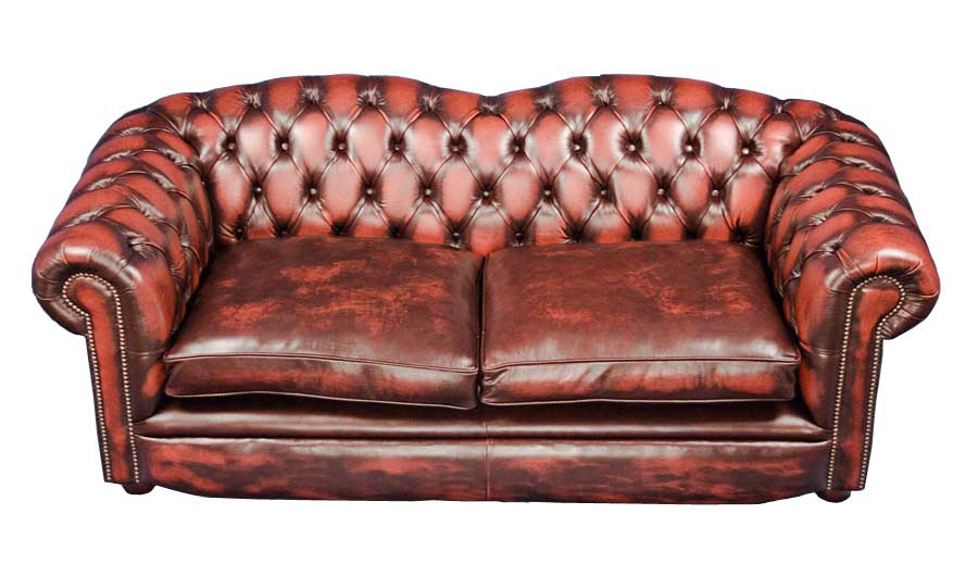 Braunton Style Leather Chesterfield Sofa