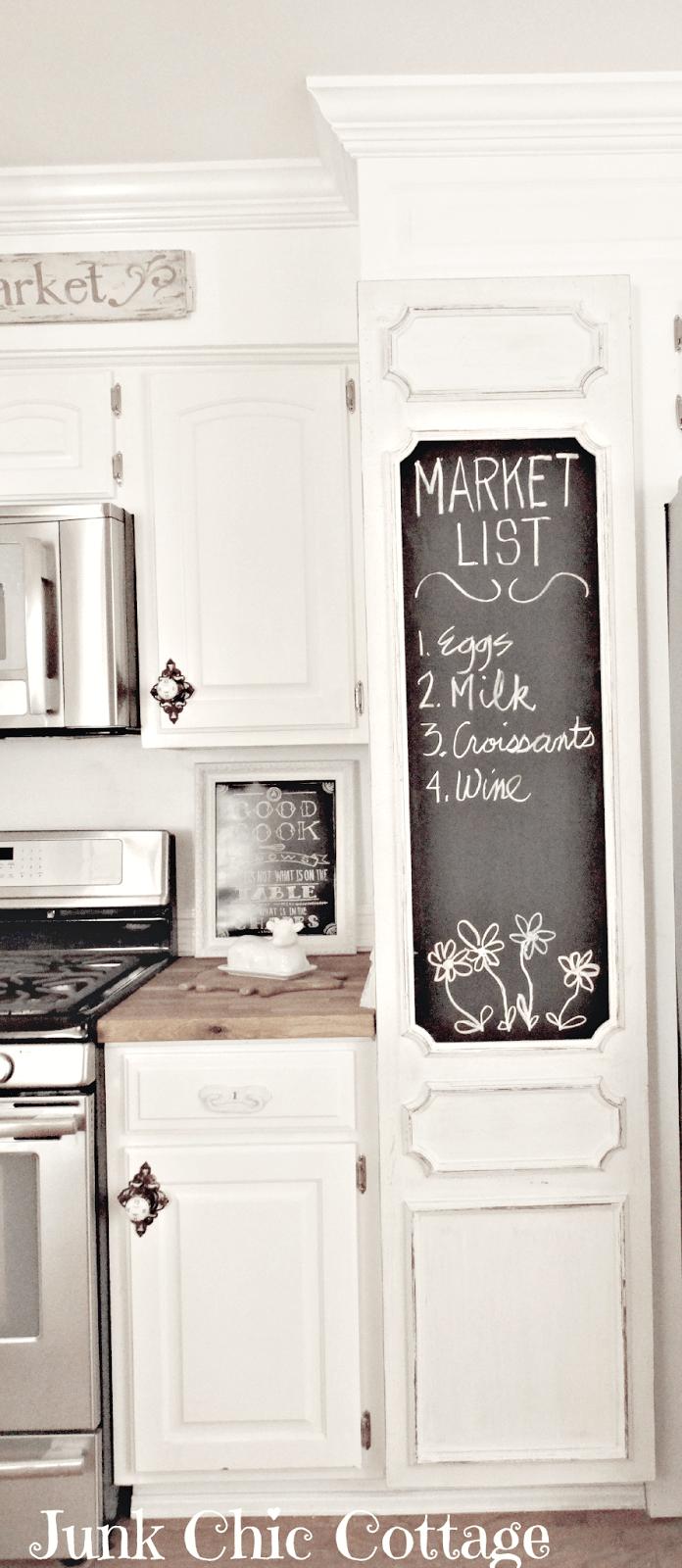 Pantry Door with Oversized Chalkboard