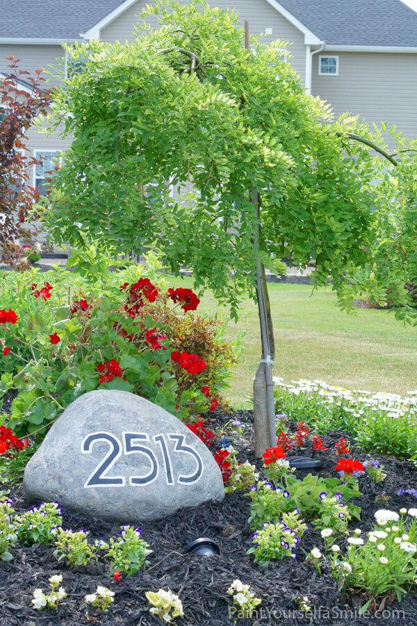Rock Display in a Lovely Flower Garden
