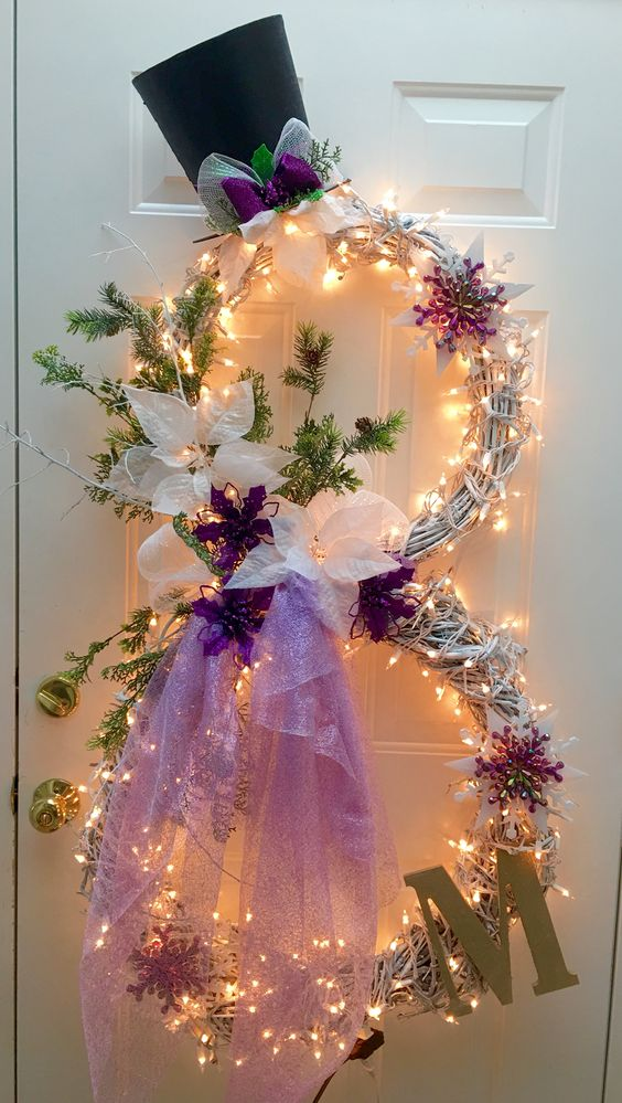 Gorgeous Snowman Wreath