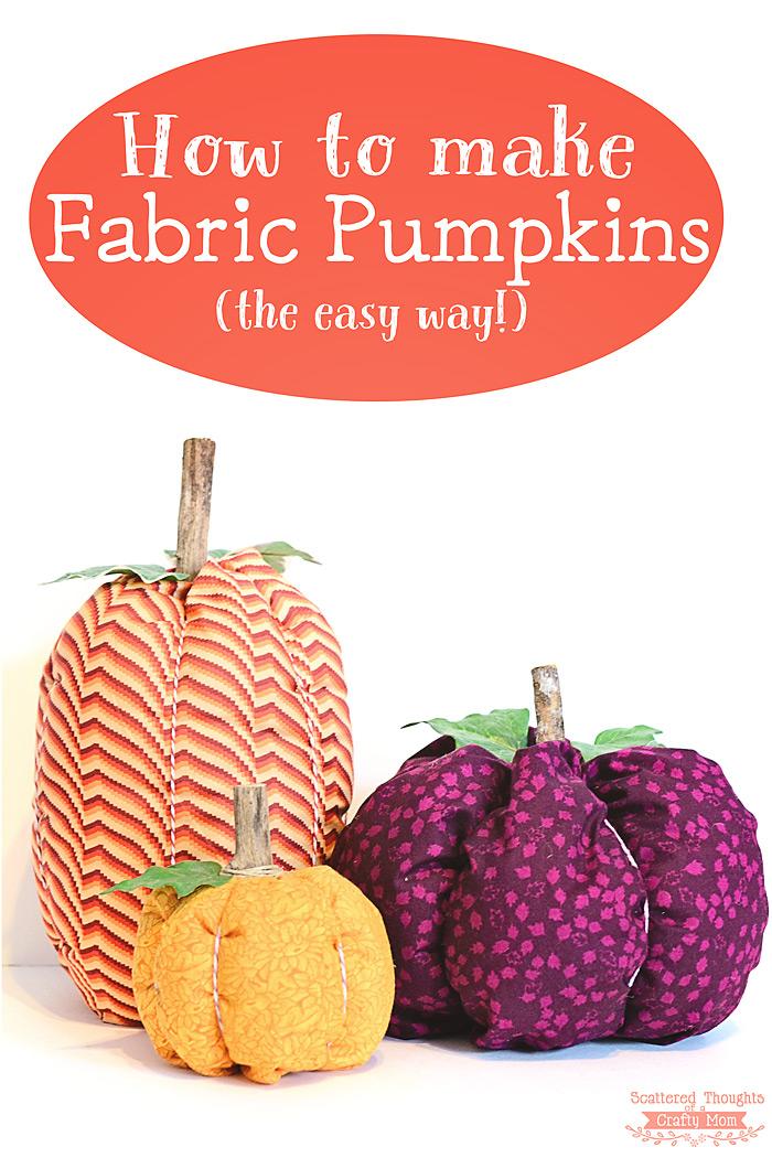 """Fabric """"Pumpkins"""" Have A Quaint Allure"""