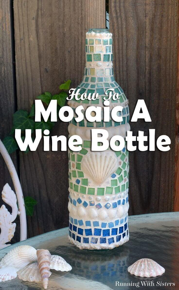 Cover a Wine Bottle with Pretty Glass