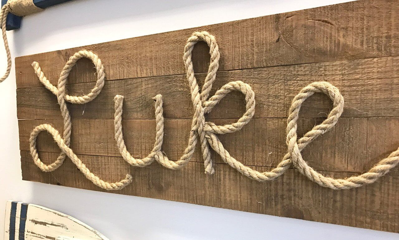Name Sign with Rope Script