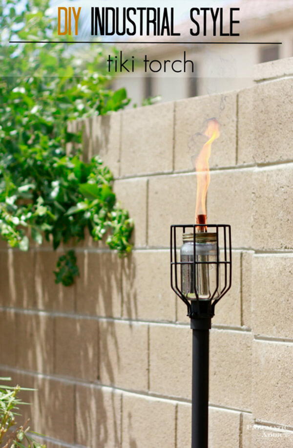Make a Tiki Torch with Industrial Style