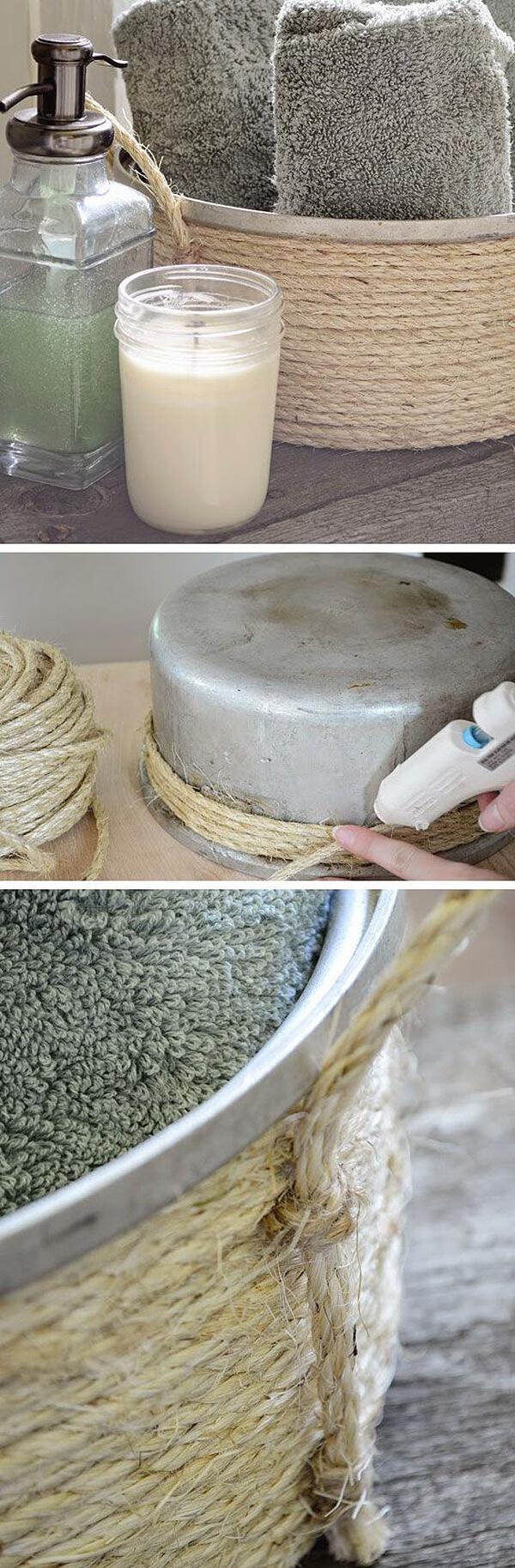 Antique Pot and Twine Basket