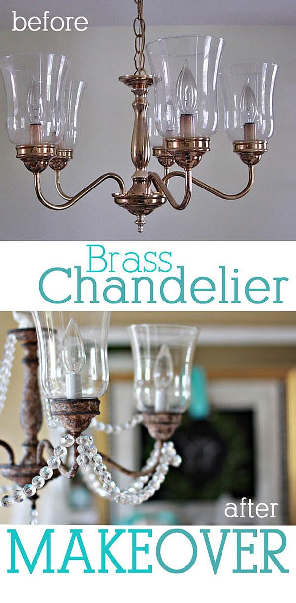 Dress Up a Reclaimed Brass Chandelier