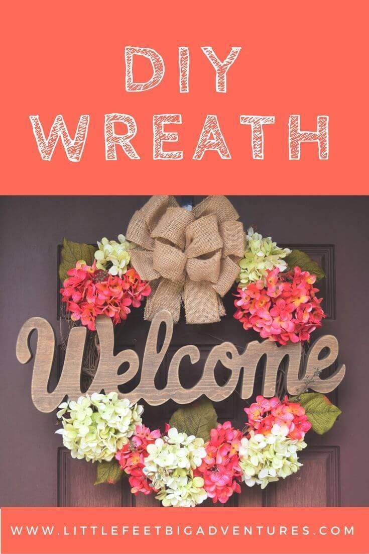 Welcoming Wreath with Pink and White Forsythia