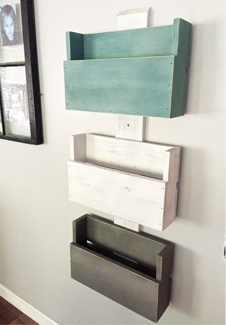 Unique Rustic Wall Storage and Mail Arranger