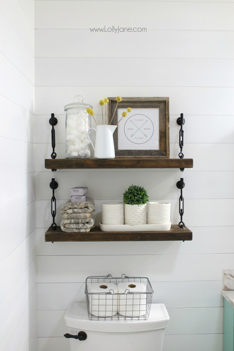 Hanging Wall Shelf for the Bathroom