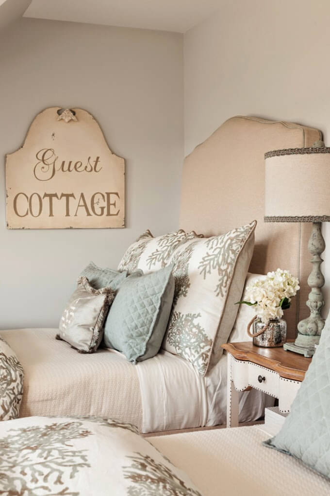 Upholstered Headboard with Oversized Pillows