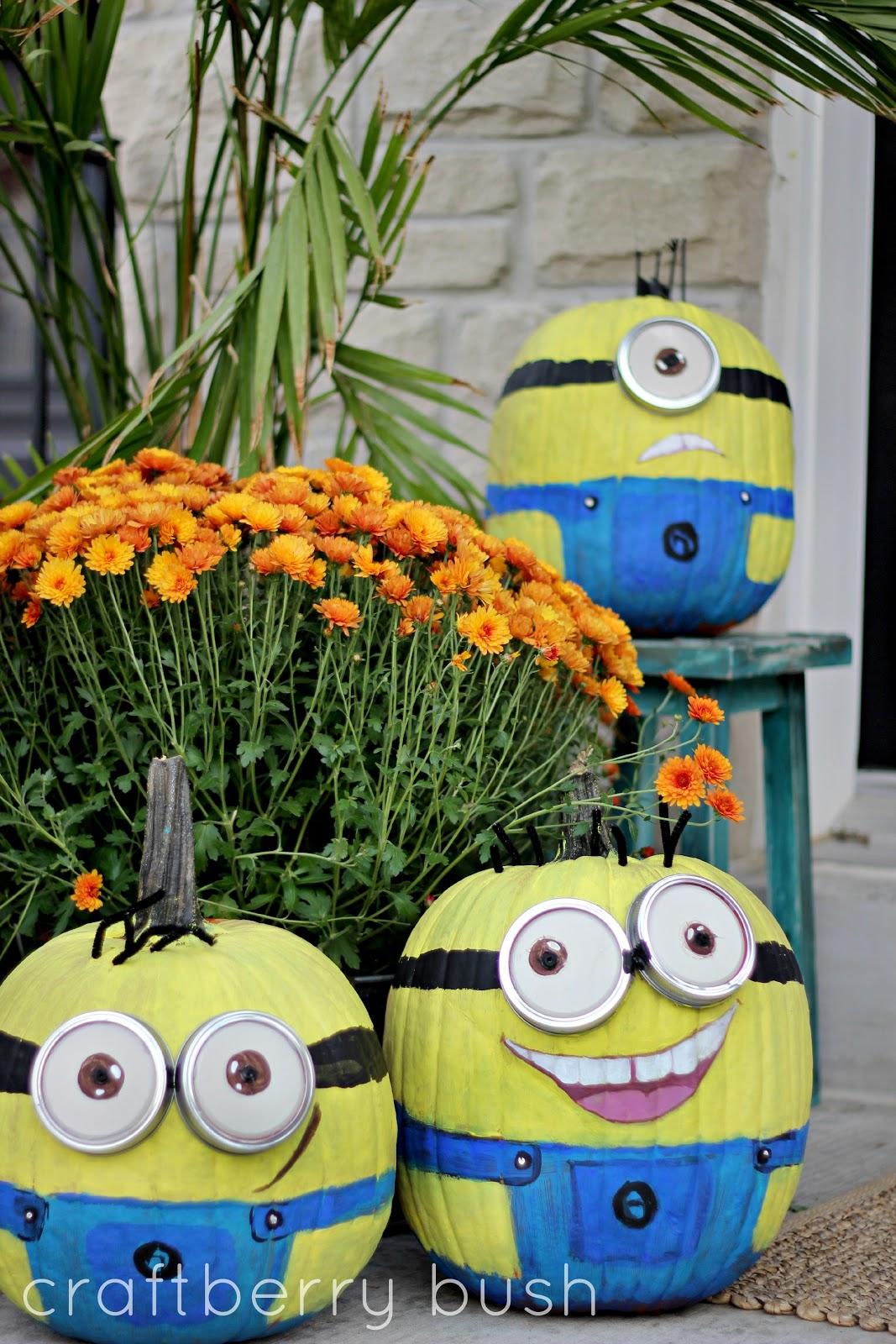 Halloween Minions Pumpkin Style