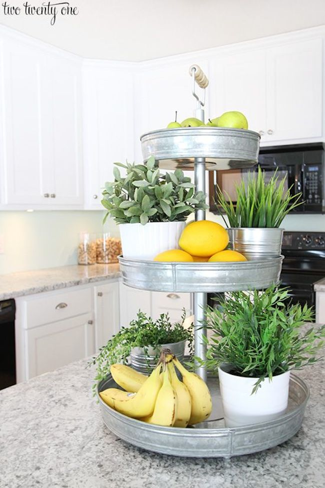 Three-Level Metal Display for Decor and Kitchen Organization