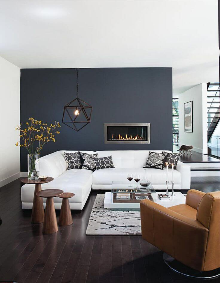 Bold Palette Modern Living Room Decorating Ideas