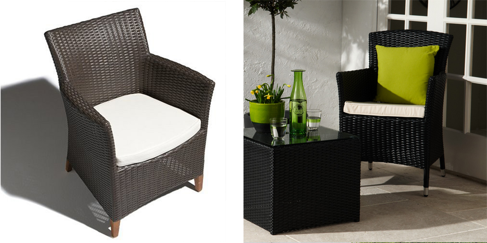 Patio Chair - Wicker Bistro Chair