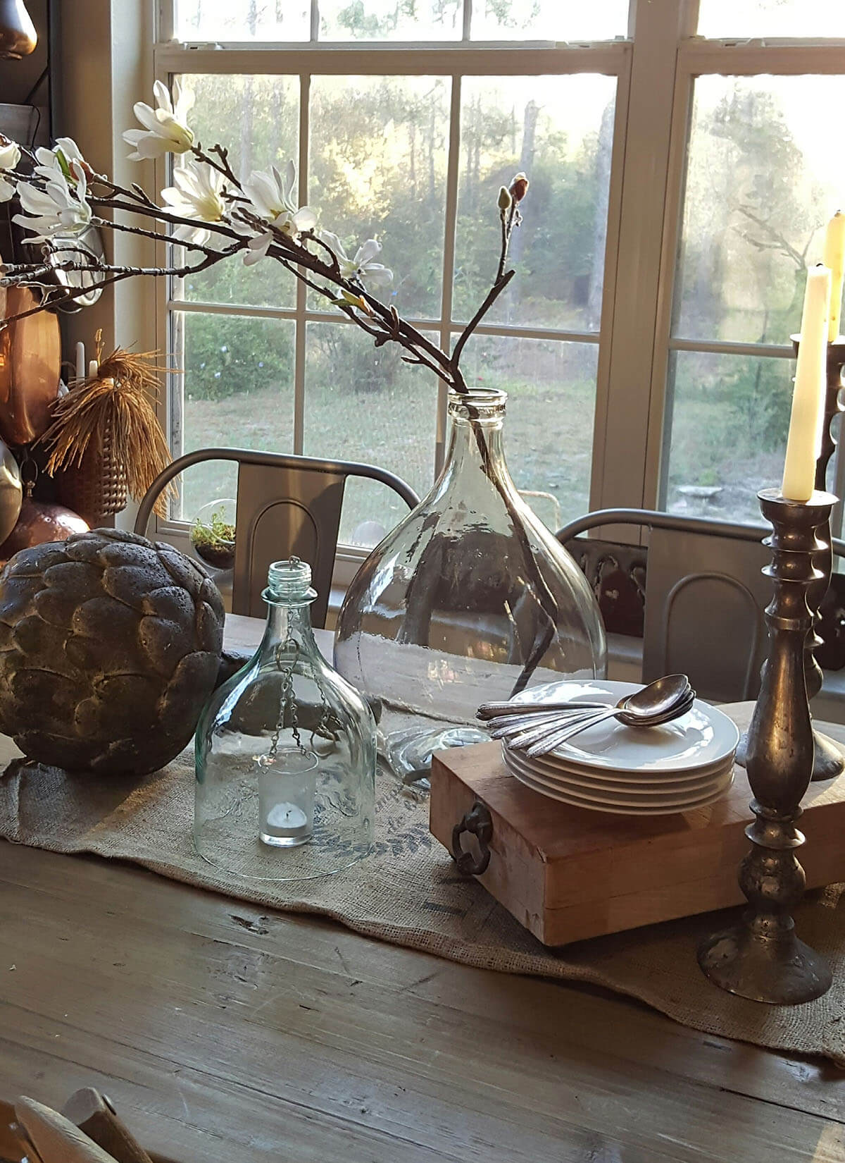 Vintage Chic Eclectic Display