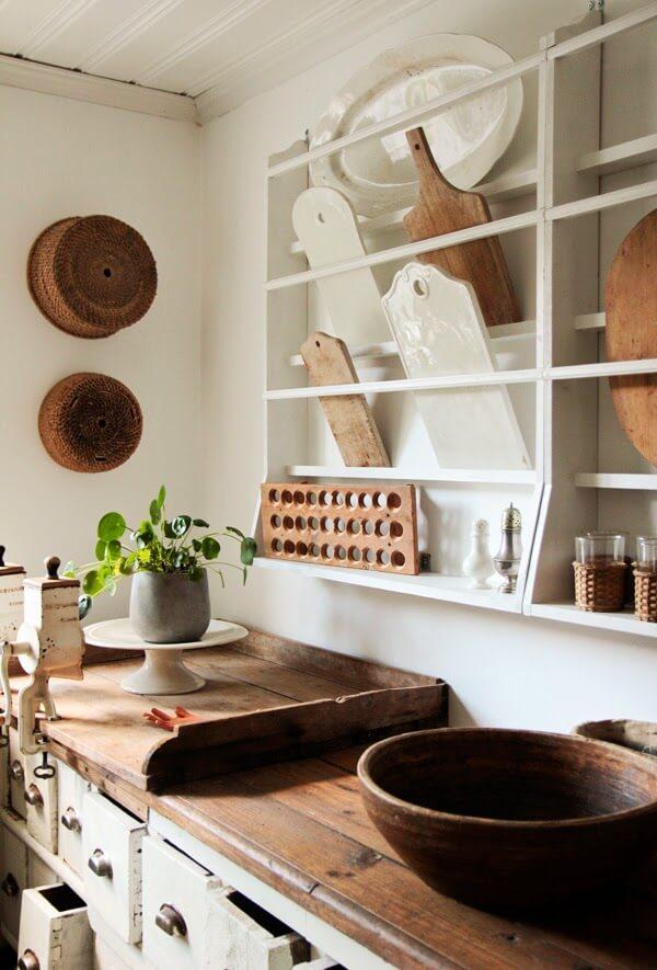 Primitive Wood Bread Board Display