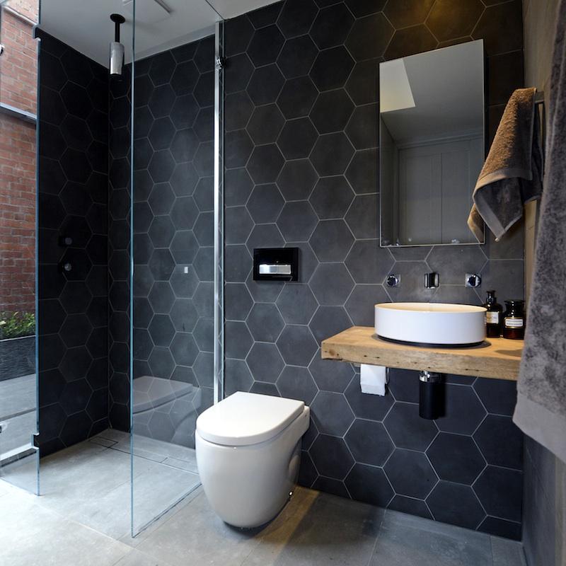 Black Honeycomb Wet Room Design