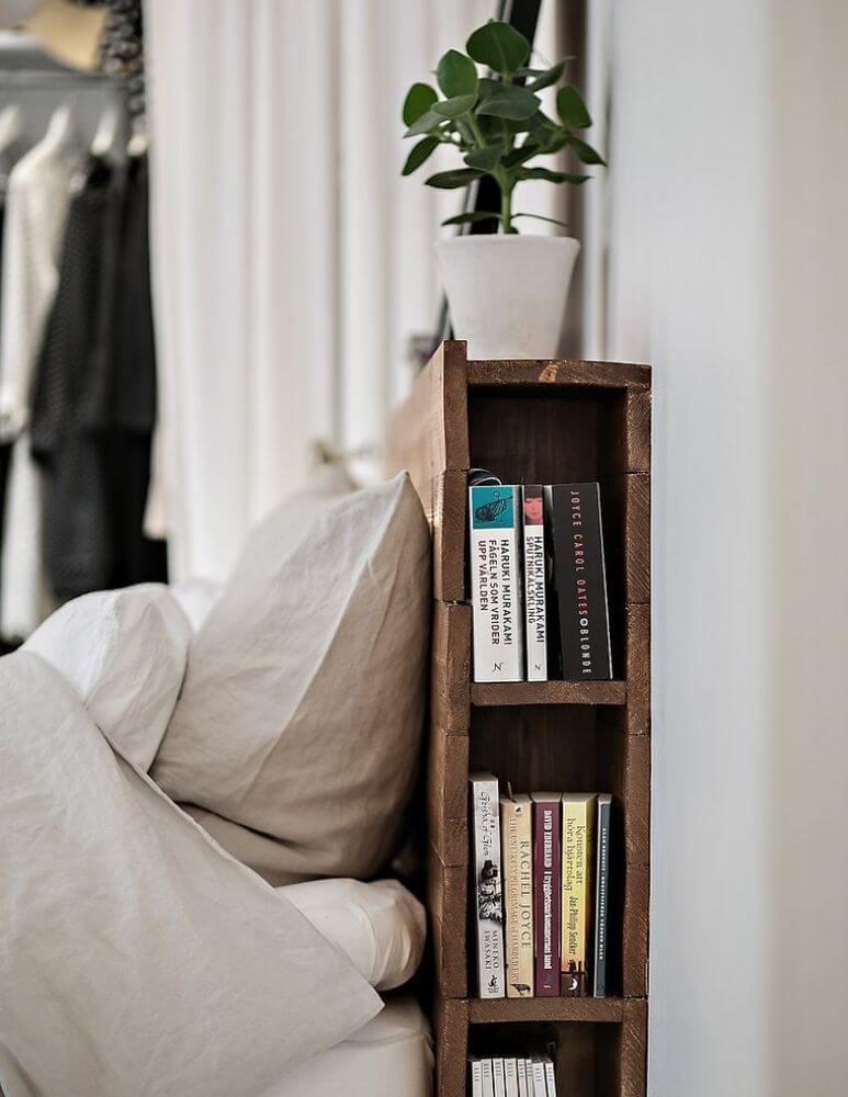 Smart Hidden Bed Bookshelf