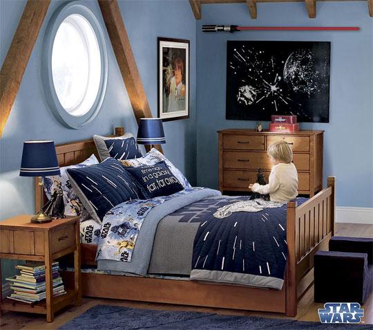 Bright in Blue Star Wars Kids Room