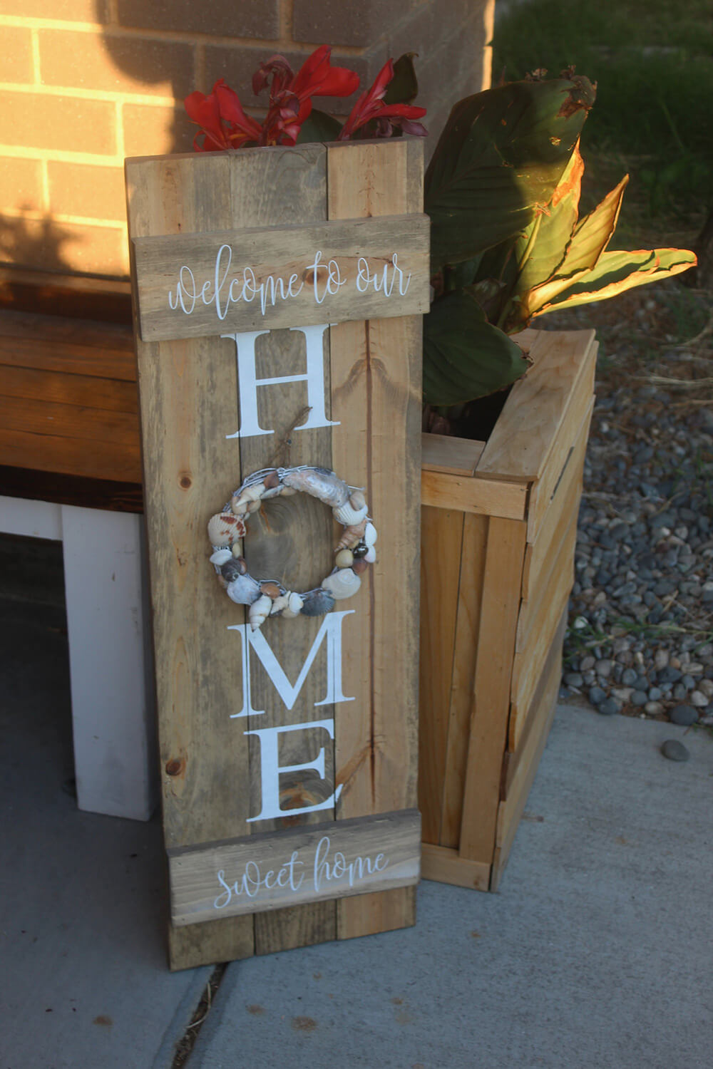 Wooden Home Sweet Home Sign