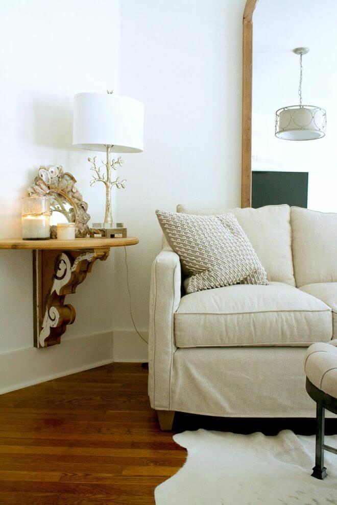 Elegant Architectural Hanging Side Table