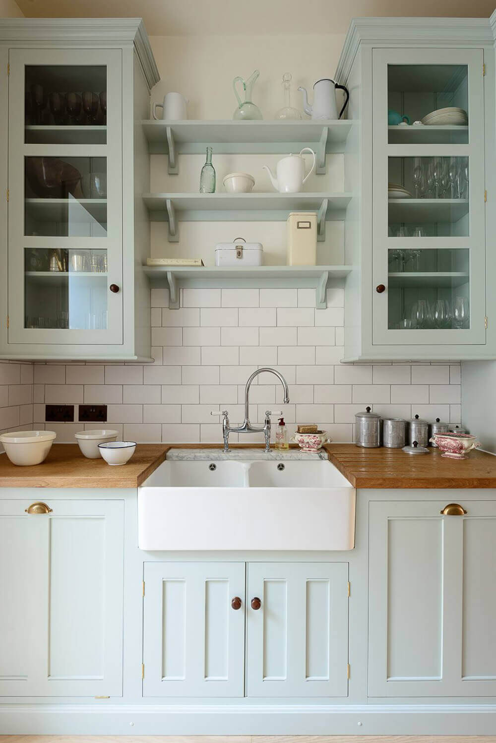 Farmhouse Sink and Subtle Color Kitchen