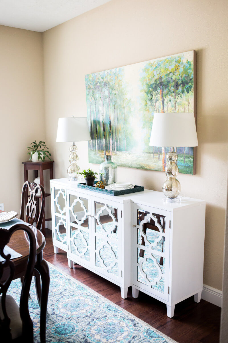 Mod and Mirrored Buffet Makeove