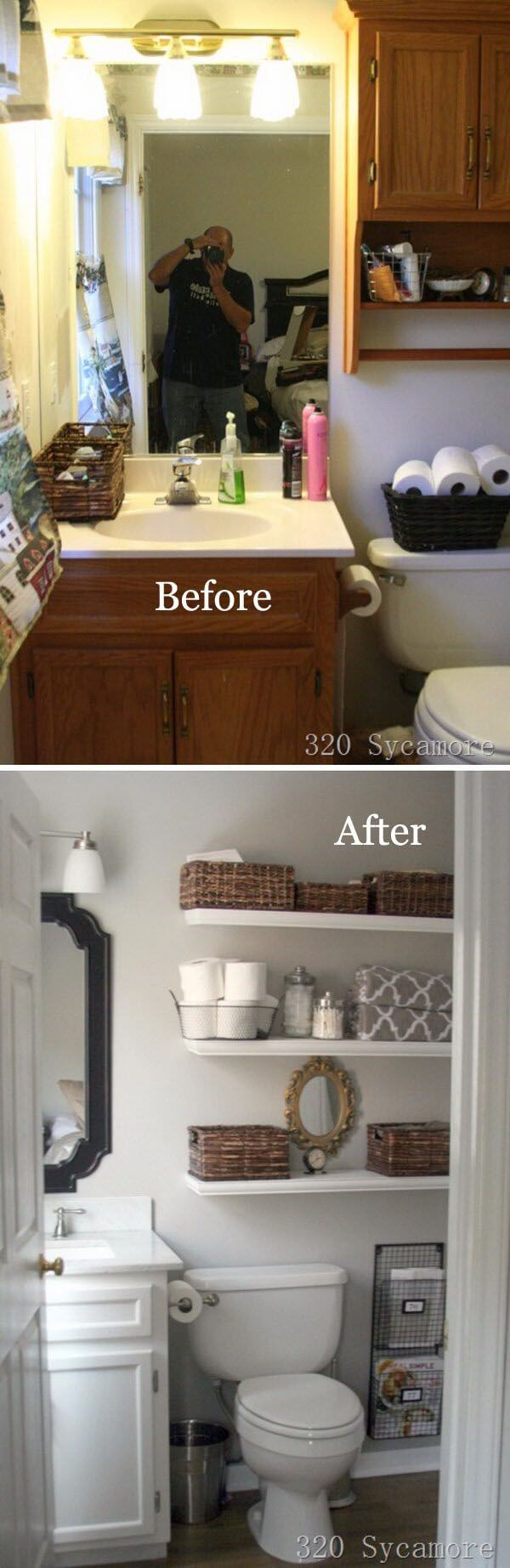 Simply Sleek DIY Bathroom Shelf Ideas