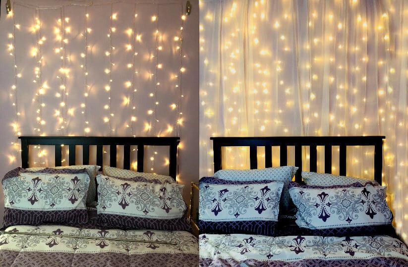 Yellow LED String Light Curtain