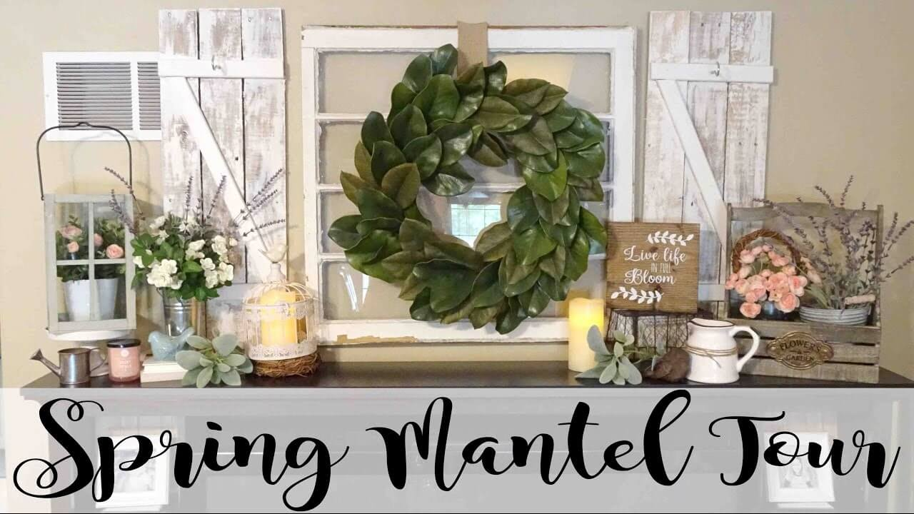 Magnolia Leaf Wreath and Succulent Arrangements